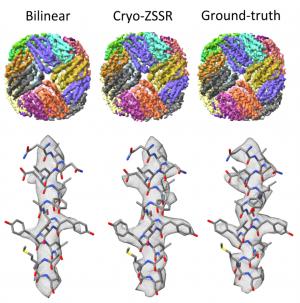 Cryo-ZSSR: multiple-image super-resolution based on deep internal learning